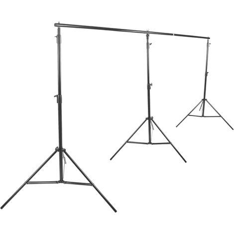 BeMatik - Soporte de fondos de tela para estudio de fotografía 300x650cm