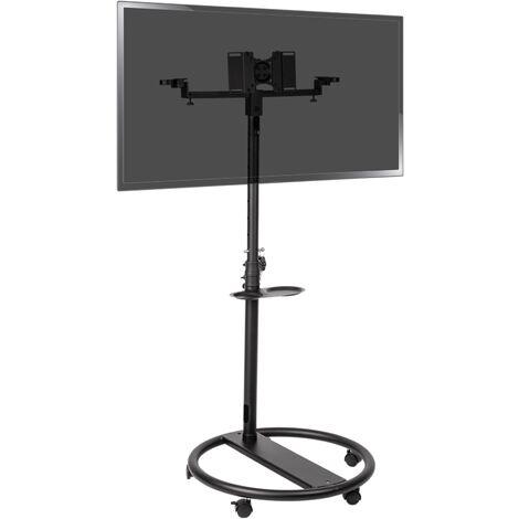 BeMatik - Soporte de pie con ruedas para pantalla plana TV VESA 50 75 100 200 y altavoces