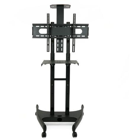 """BeMatik - Soporte de pie para pantalla de TV plana con ruedas y estantería (32""""-55"""")"""