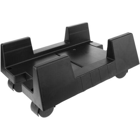BeMatik - Soporte para ordenador PC con ruedas de color negro