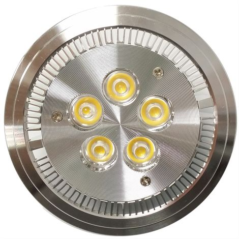 BeMatik - Spot encastrable à LED AR111 G53 5W 95mm blanc froid jour froid 6000K