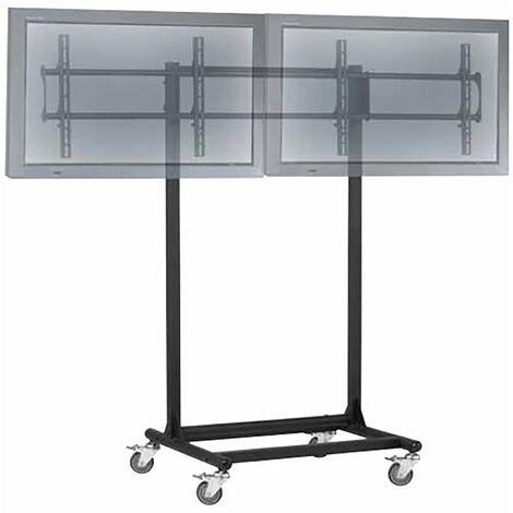 """BeMatik - Stand de TV pour 2 écrans horizontalement 32 """"- 56"""" VESA 600x400 mm"""