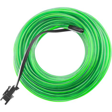 BeMatik - Strong green electroluminescent wire coil 5m 2.3mm Battery