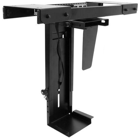 BeMatik - Support box for computer with sliding under desk adjustable 88-203mm