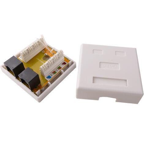 BeMatik - Surface box 2-RJ45 UTP Cat.6
