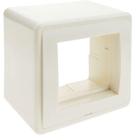 BeMatik - Surface box for 2 modules 75x75x48mm 45x22 5mm