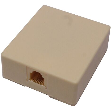 BeMatik - Surface box of 1 RJ11 Cat.3