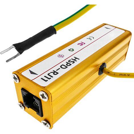 "main image of ""BeMatik - Surge protector and electric shock protector for phone RJ11 10KA DW-0499"""
