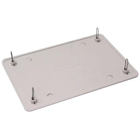 BeMatik - Tapa de caja de registro rectangular para caja de 160x100mm