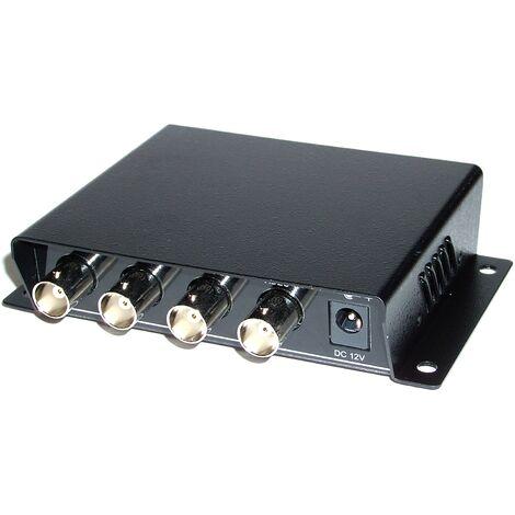 BeMatik - Transmetteur vidéo passive DONNÉES DC 4RJ45 4BNC TTP444VPD