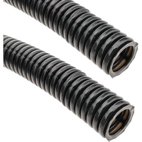 BeMatik - Tubo corrugado interior M-16 10 m negro