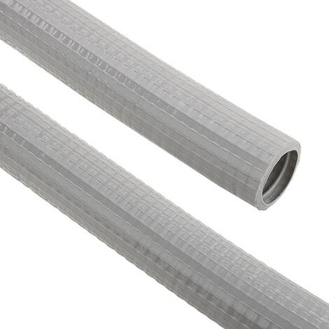 BeMatik - Tubo corrugado reforzado PVC M-25 75 m Gris
