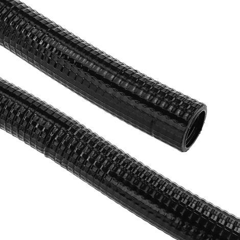 BeMatik - Tubo corrugado reforzado PVC M-40 25 m Negro
