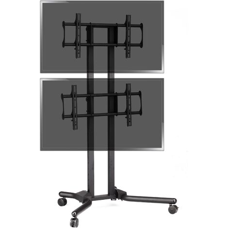 "BeMatik - TV stand for 2 screens vertically 32 ""- 56"" VESA 600x400 mm"