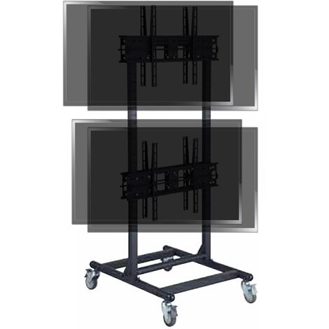 "BeMatik - TV stand for 2x2 vertical screens 32 ""- 56"" dual VESA 600x400 mm"