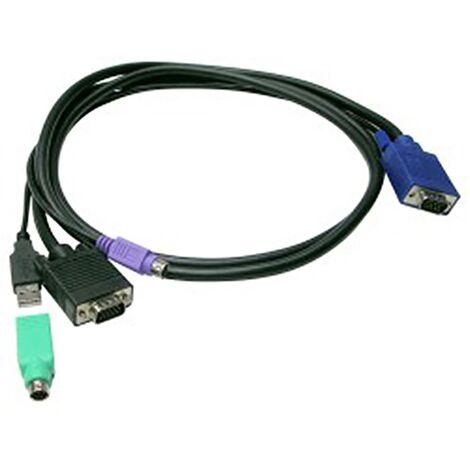 BeMatik - Uniclass Prima Cable KVM Switch PS2 and USB 1.8m