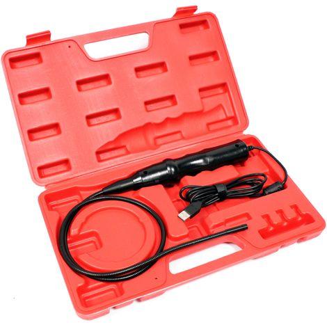 BeMatik - USB Borescope Camera USB Endoscope Flexible 74cm handle 640x480