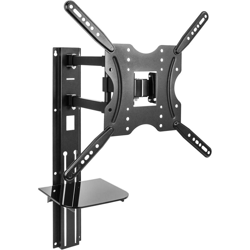 Wall mount bracket for TV screen from 32' to 55' compatible VESA-100/200/300/400 with tray - Bematik