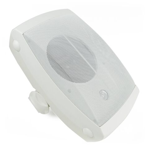 BeMatik - Wall speaker 40W and 350x220x210mm adjustable white exterior