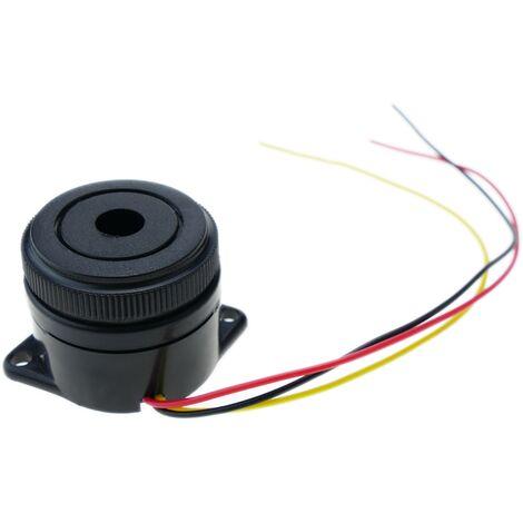 BeMatik - Zumbador piezo cerámico con sonido contínuo o intermitente 12VDC
