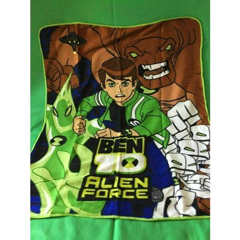 Ben 10 Childrens/Kids Fleece Throw Blanket (One Size) (Green)
