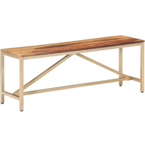 Bench 120 cm Solid Sheesham Wood