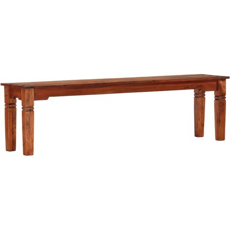 Bench 160 cm Solid Acacia Wood - Brown