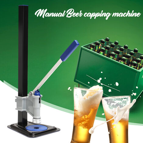 Bench automatic lever capper bottle aluminum alloy beer for crown caps brewing barrel soda at home Mohoo