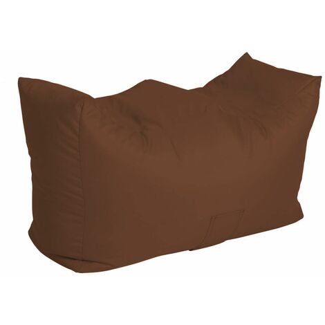Bench Bean Bag Water Resistant with Beans Filling, 90 x 50 x 47 cm - Brown - Brown
