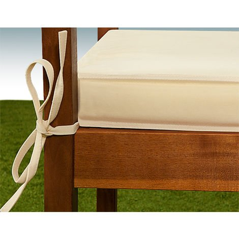 Bench Cushion 2 Seater 110 x 45 cm Beige Cream