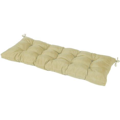 Bench Cushion Foldable Thick Garden Seat Chair Swing Cushion khaki