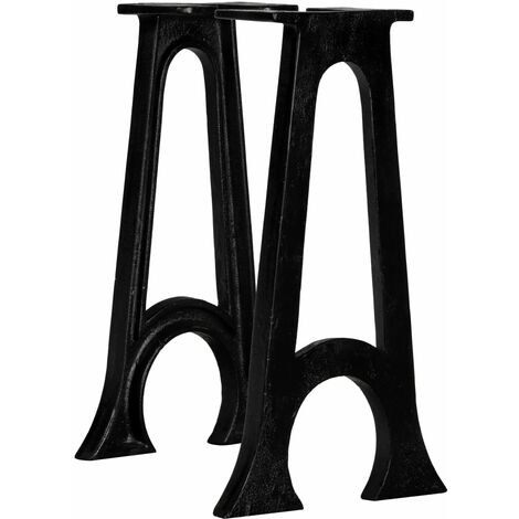 Bench Legs 2 pcs with Arched Base A-Frame Cast Iron
