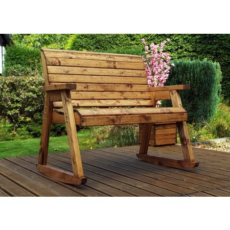 Bench Rocker, wooden garden rocking seat, fully assembled