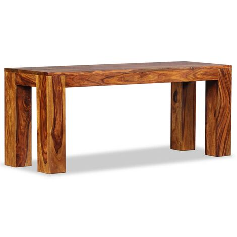 Bench Solid Sheesham Wood 110x35x45 cm