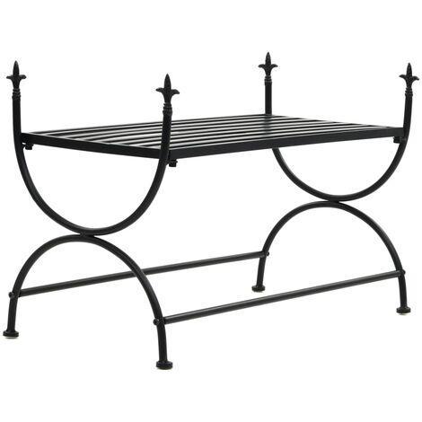 Bench Vintage Style Metal 83x42x55 cm Black