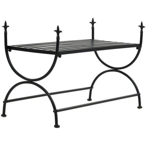 Bench Vintage Style Metal 83x42x55 cm Black - Black