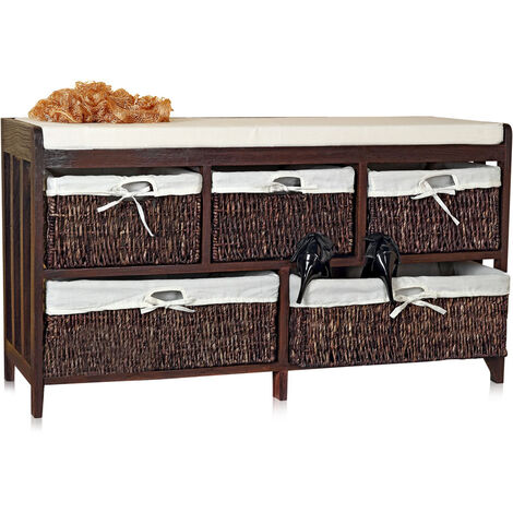 bench with baskets bench cushion willow wood bench chest bench commode