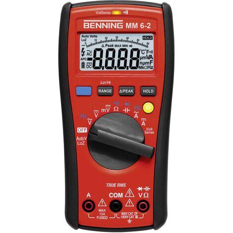 Benning MM 6-2 Hand-Multimeter digital CAT III 1000 V, CAT IV 600V Anzeige (Counts): 6000 W584671