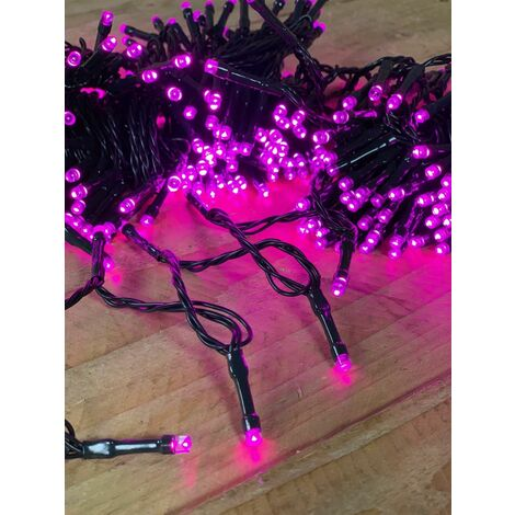 Benross Christmas Indoor Outdoor Multi-Function 200 LED Pink Chaser Lights