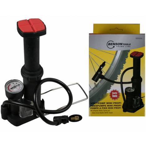 Luftpumpe BENSON Fahrrad Standpumpe Aluminium Fu/ßpumpe f/ür alle Ventile mit Manometer