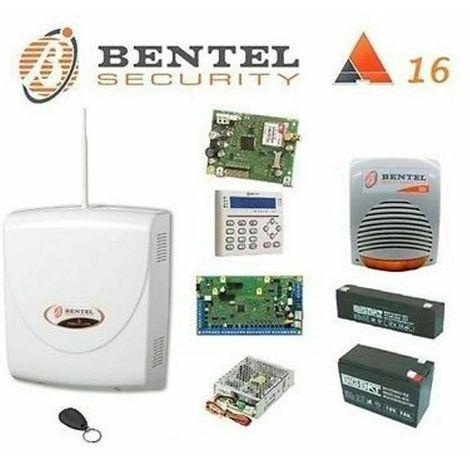 Bentel Kit Absoluta 16 gsm tastiera alim 2.6ah batterie sirena + OMAGGIO TAG abs
