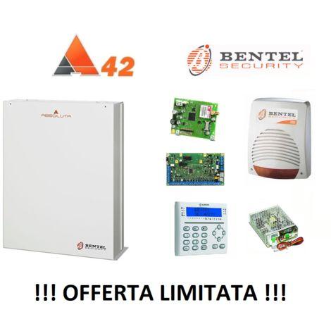 BENTEL SECURITY ABSOLUTA 42 ZONE ABS-42 + GSM + SIRENA + TASTIERA + BOX KIT 149