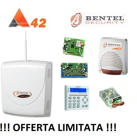 BENTEL SECURITY ABSOLUTA 42 ZONE! ABS-42 + GSM + SIRENA + TASTIERA KIT 148