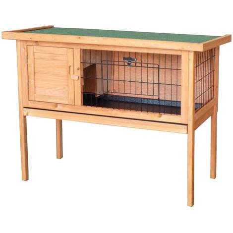 Bentley - Cage surélevée pour animaux domestiques - entretien facile - bois