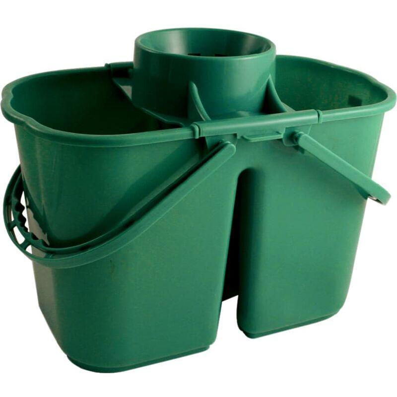Image of VZ.DMG 15LTR Duo Mop Bucket Green - Bentley Brushware