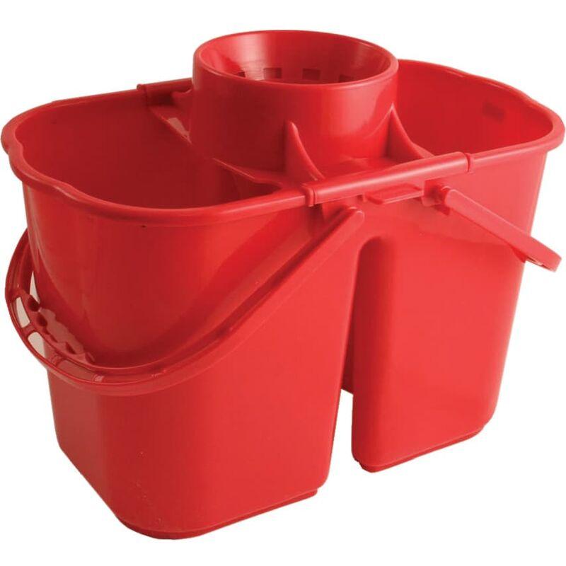 Image of VZ.DMR 15LTR Duo Mop Bucket Red - Bentley Brushware