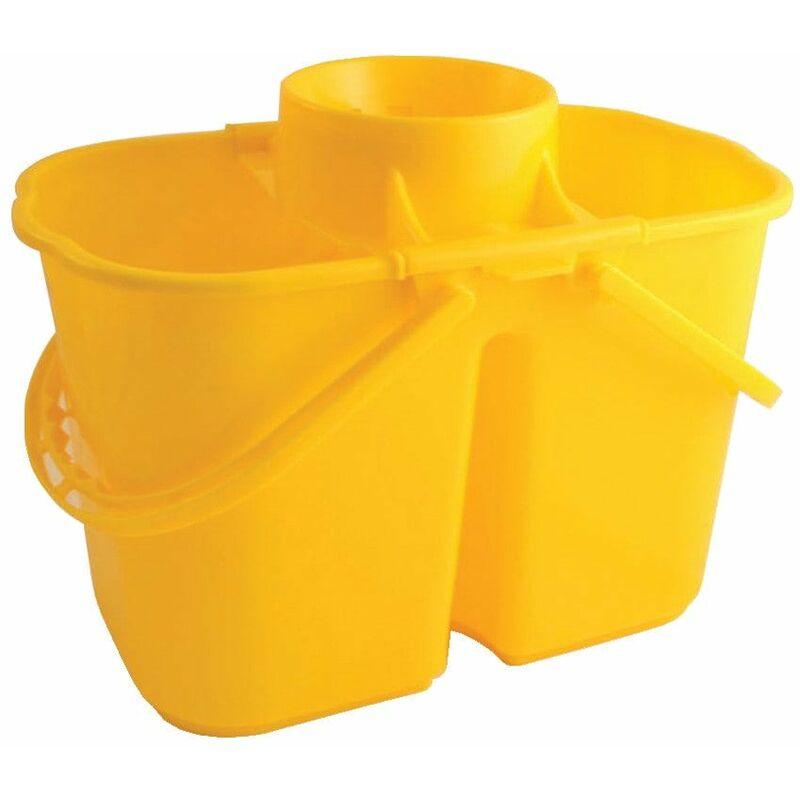 Image of VZ.DMY 15LTR Duo Mop Bucket Yellow - Bentley Brushware