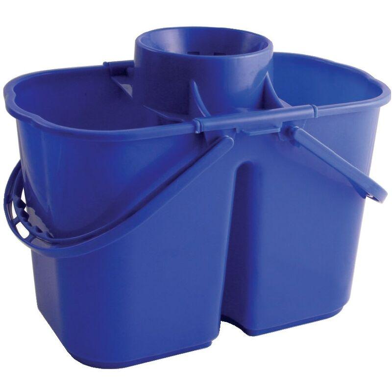 Image of VZ.DMB 15LTR Duo Mop Bucket Blue - Bentley Brushware
