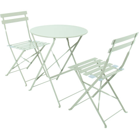 """main image of """"Charles Bentley 3 Piece Metal Bistro Set Garden Patio Table 2 Chairs - 5 Colours"""""""