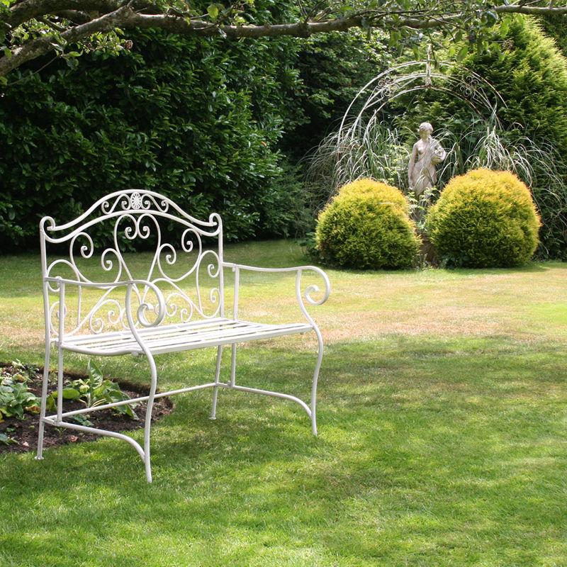 Bentley Garden Banc De Jardin 2 Places Fer Forgé Blanc